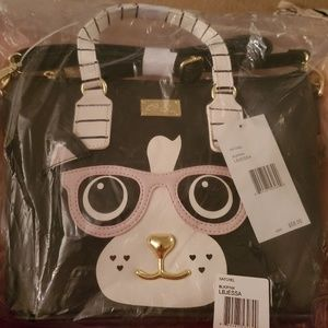 NWT Betsey Johnson cat satchel
